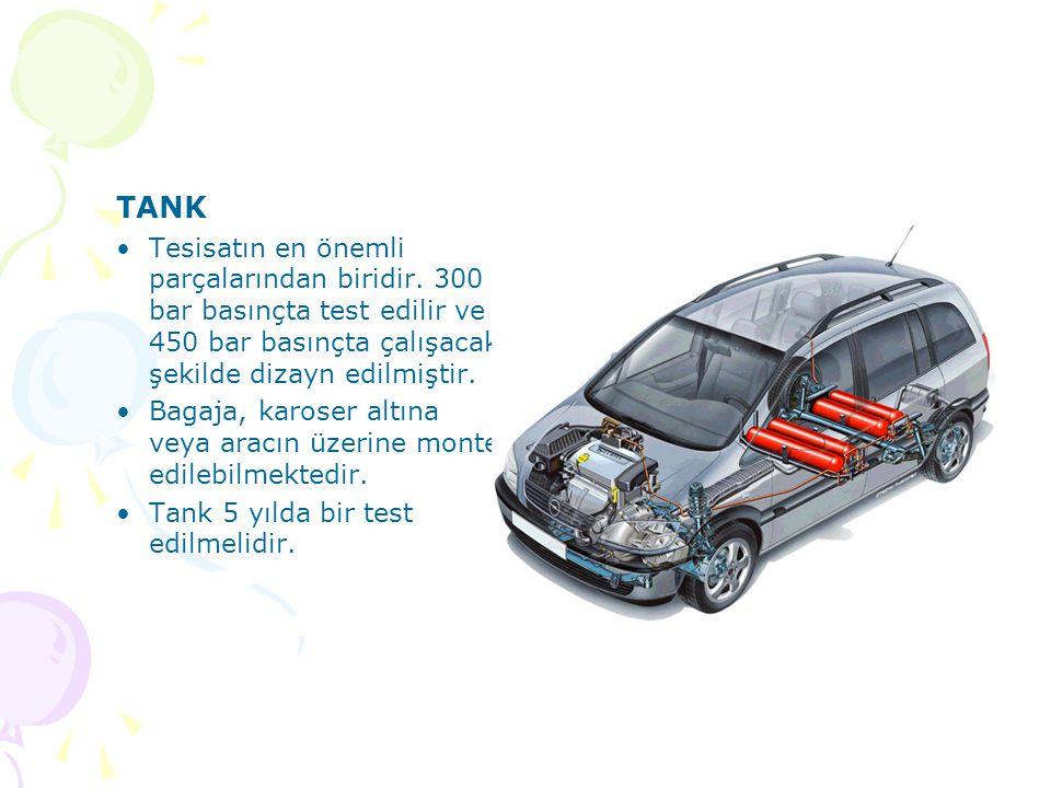 TANK Tesisatın en önemli parçalarından biridir. 300 bar basınçta test edilir ve 450 bar basınçta çalışacak şekilde dizayn edilmiştir.