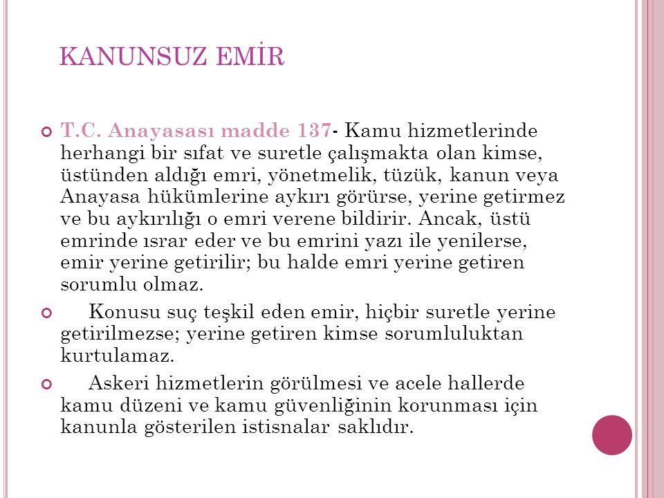 KANUNSUZ EMİR
