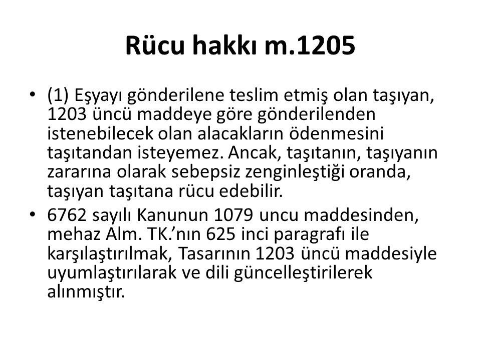 Rücu hakkı m.1205