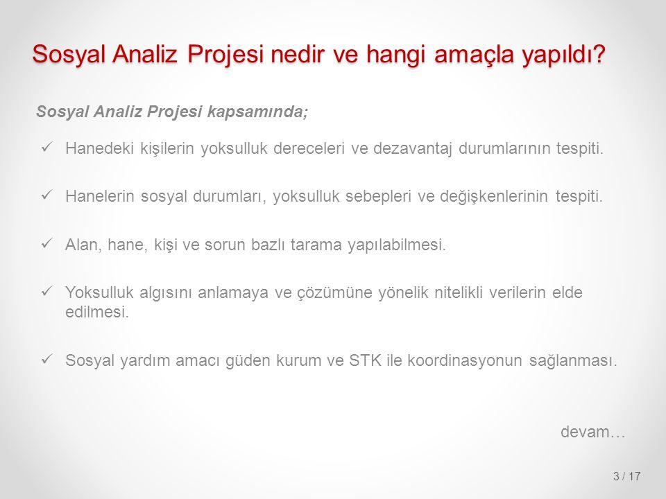 Sosyal Analiz Projesi nedir ve hangi amaçla yapıldı