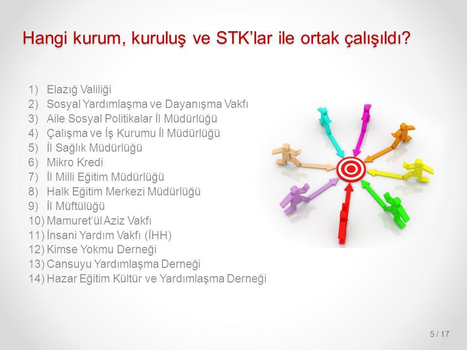 Hangi kurum, kuruluş ve STK'lar ile ortak çalışıldı