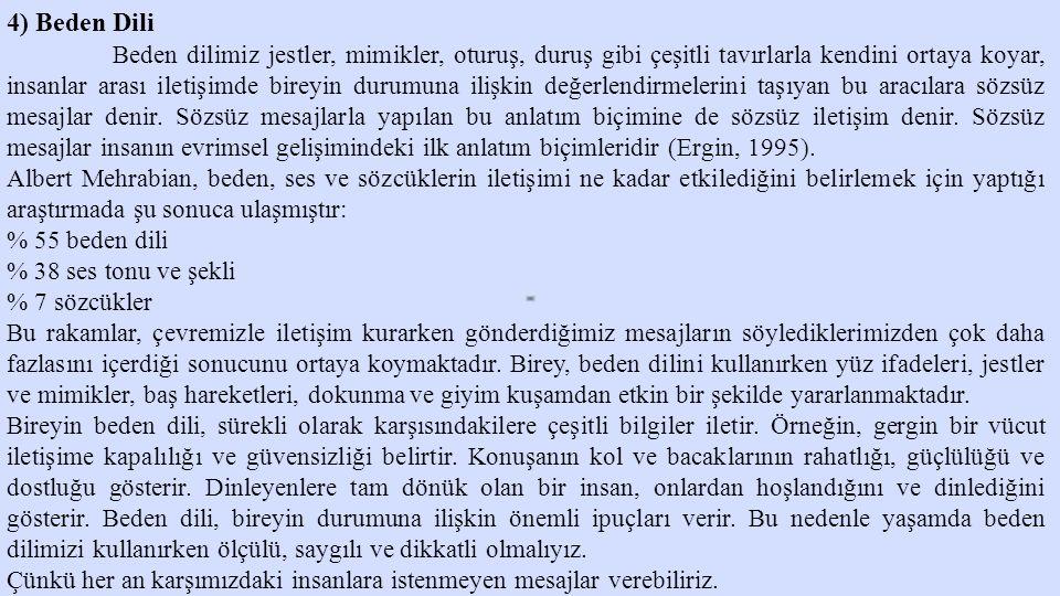 4) Beden Dili