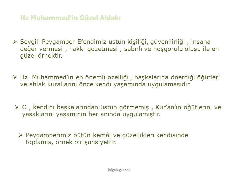 Hz Muhammed in Güzel Ahlakı