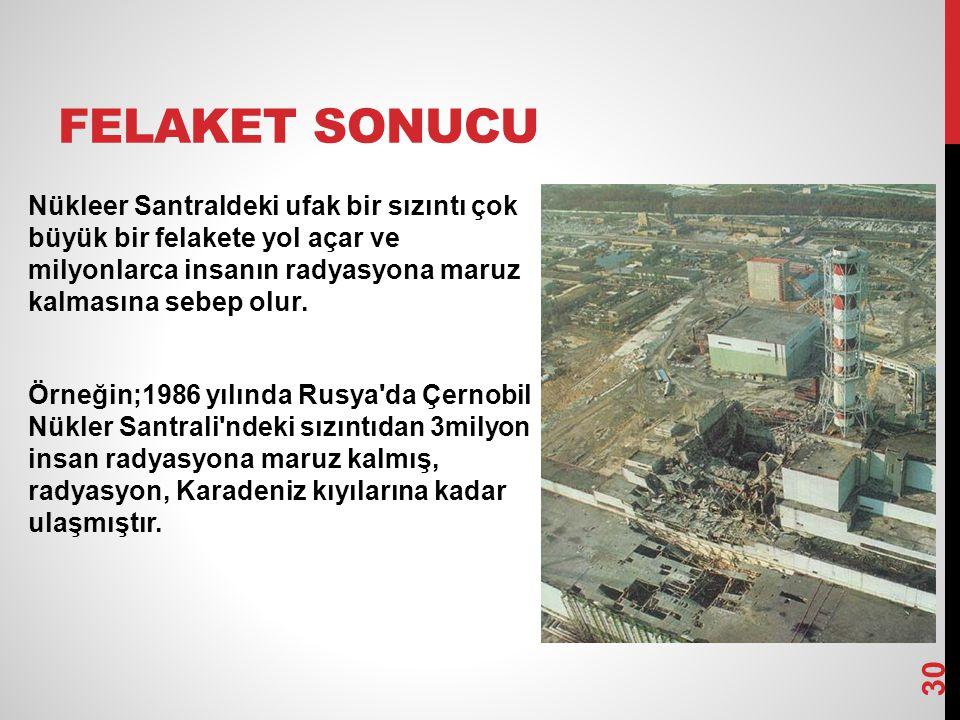 Diğer örnek olaylar Çernobil kazası