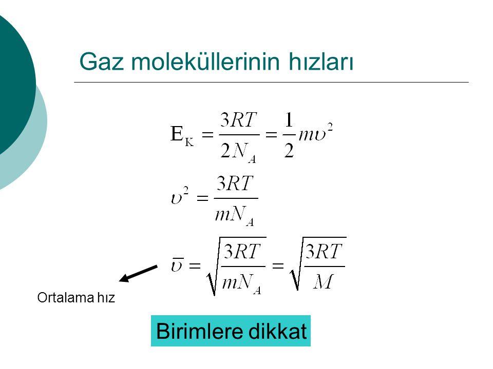 Gaz moleküllerinin hızları