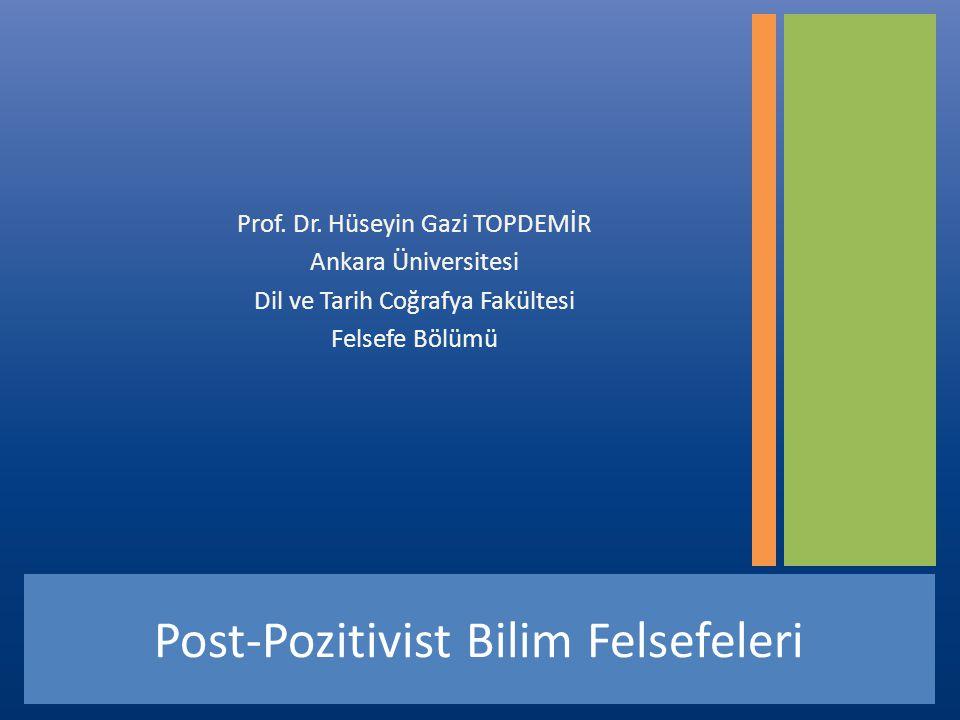 Post-Pozitivist Bilim Felsefeleri