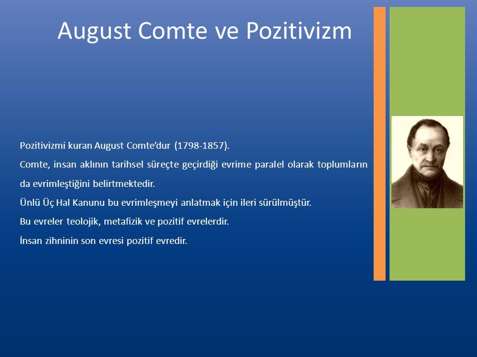 August Comte ve Pozitivizm