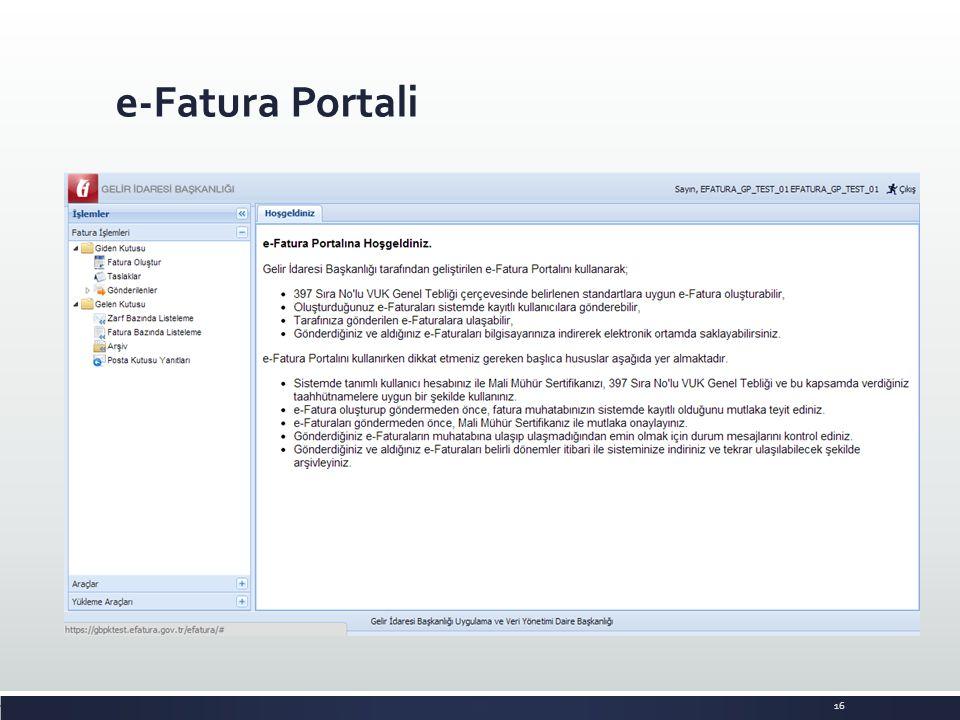 e-Fatura Portali