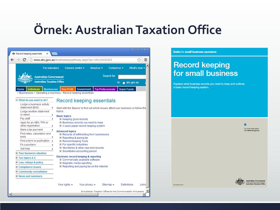 Örnek: Australian Taxation Office
