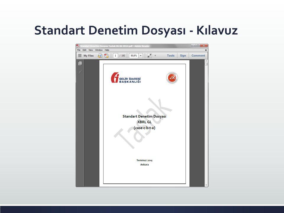 Standart Denetim Dosyası - Kılavuz