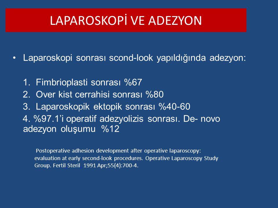 Laparoskopİ ve Adezyon