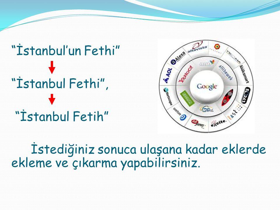 İstanbul Fethi , İstanbul Fetih