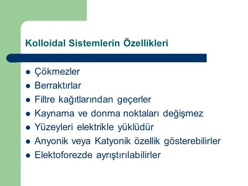 Kolloidal Sistemlerin Özellikleri