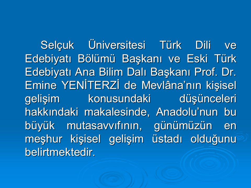 Selçuk Üniversitesi Türk Dili ve Edebiyatı Bölümü Başkanı ve Eski Türk Edebiyatı Ana Bilim Dalı Başkanı Prof.