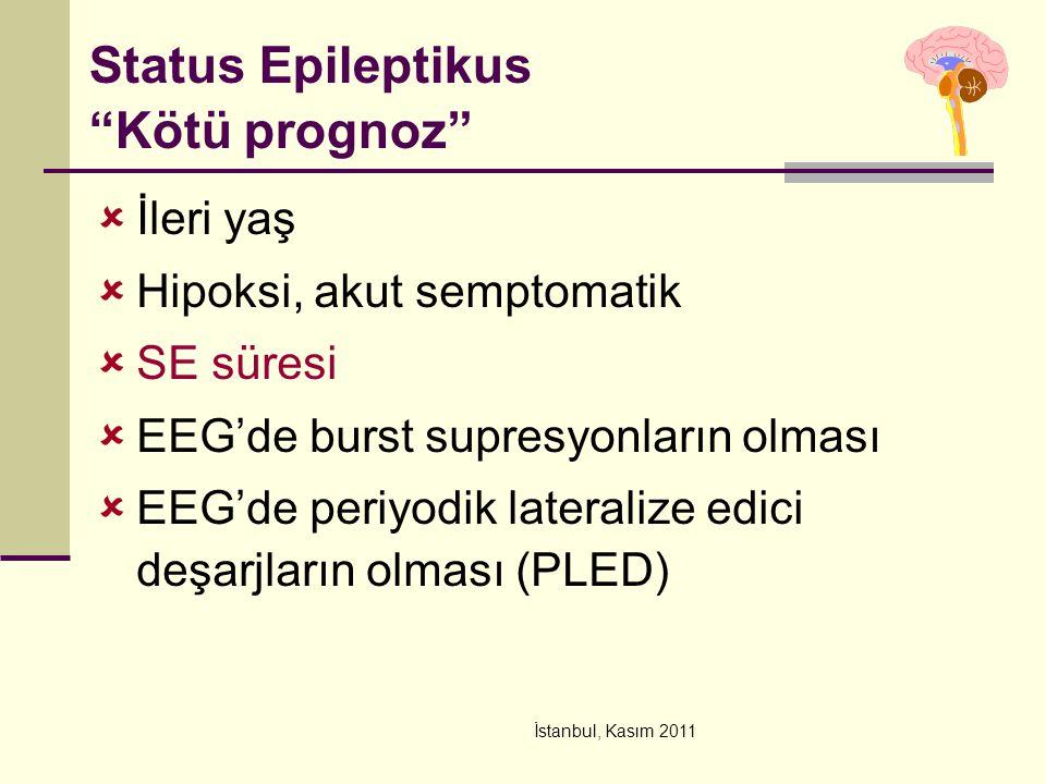 Status Epileptikus Kötü prognoz