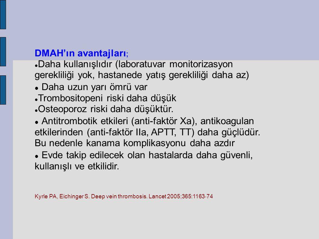 �DMAH'ın avantajları; Daha uzun yarı ömrü var