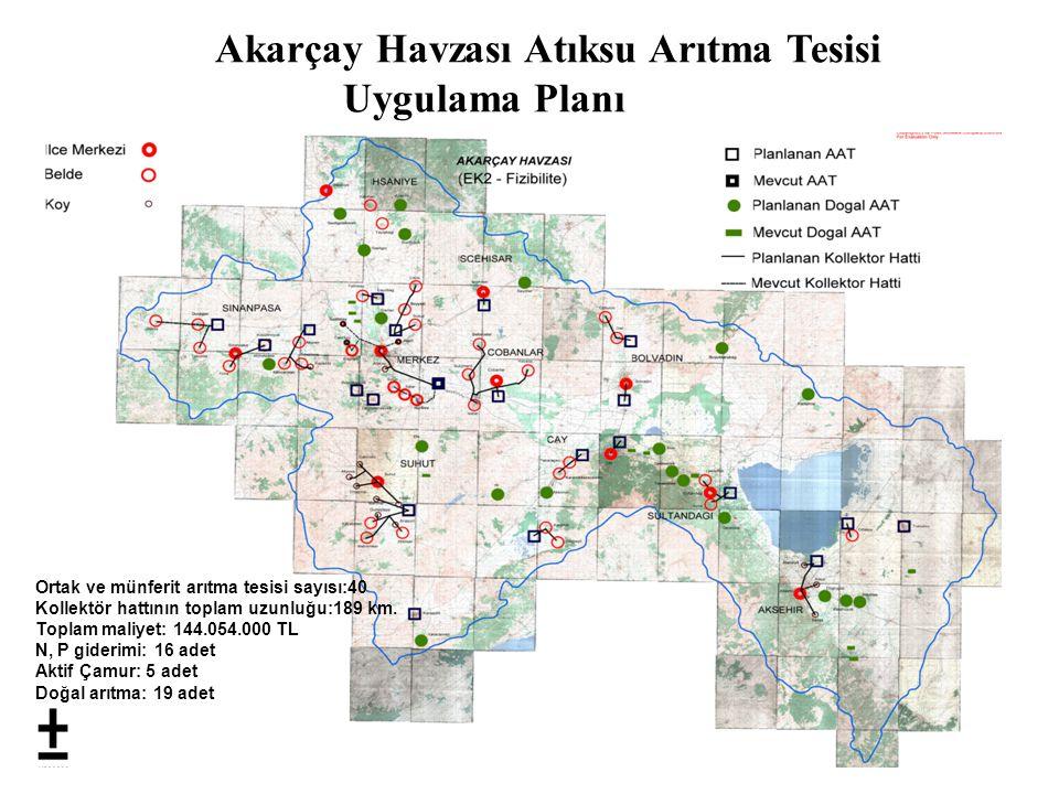 Akarçay Havzası Atıksu Arıtma Tesisi Uygulama Planı