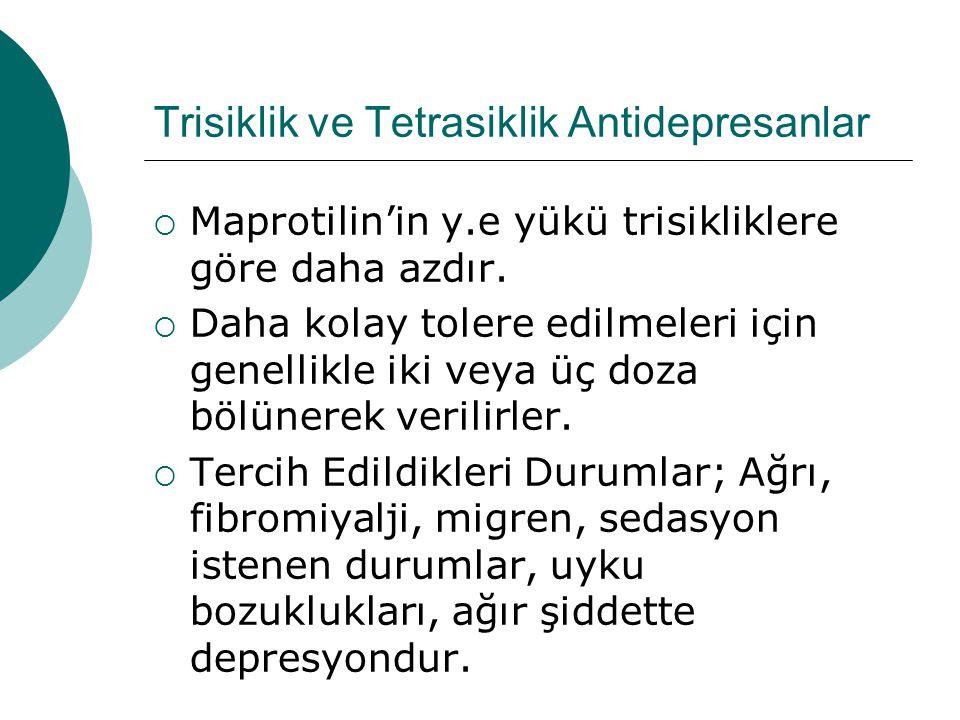 Trisiklik ve Tetrasiklik Antidepresanlar