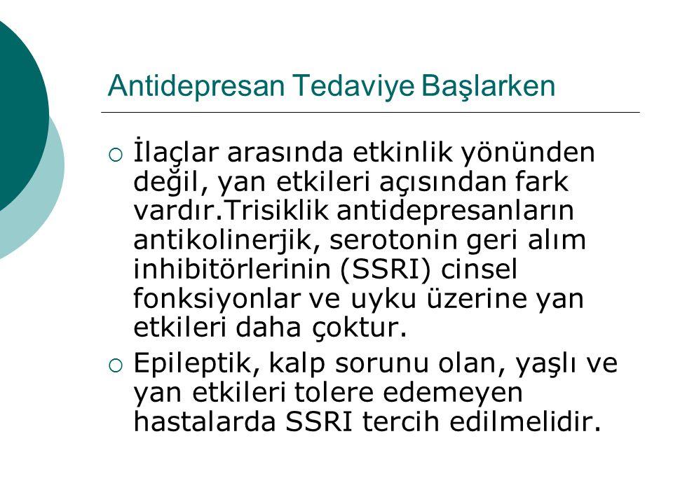 Antidepresan Tedaviye Başlarken