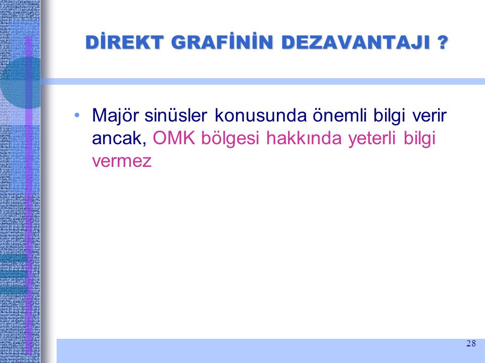 DİREKT GRAFİNİN DEZAVANTAJI