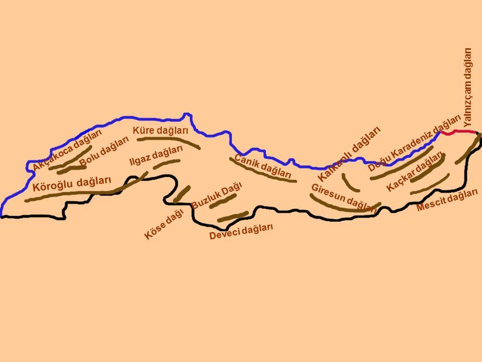 Kalkanlı dağları Köroğlu dağları Yalnızçam dağları Küre dağları