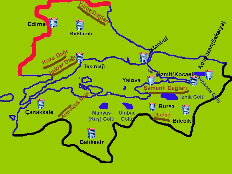 Yıldız Dağları Edirne Adapazarı(Sakarya) İstanbul Koru Dağı
