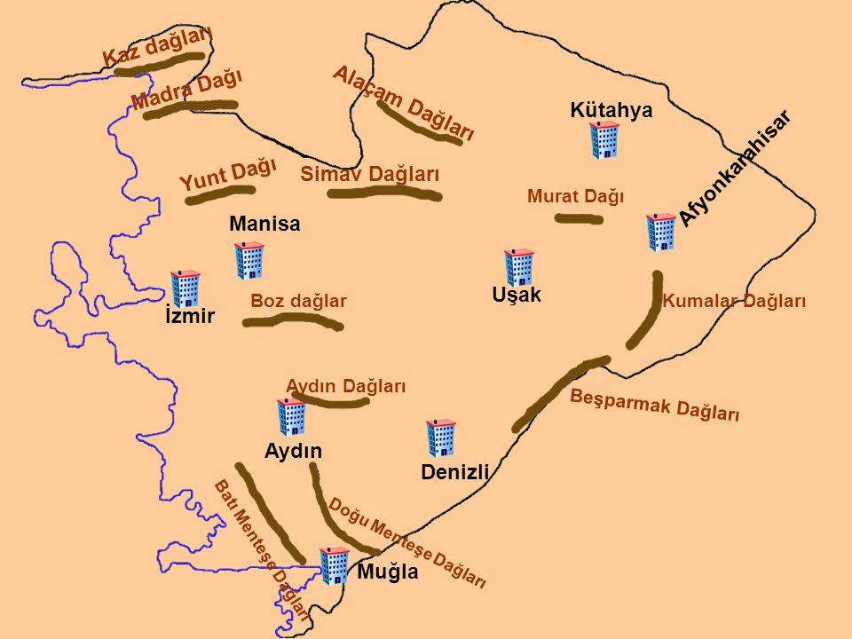 Kaz dağları Madra Dağı Alaçam Dağları Kütahya Afyonkarahisar Yunt Dağı