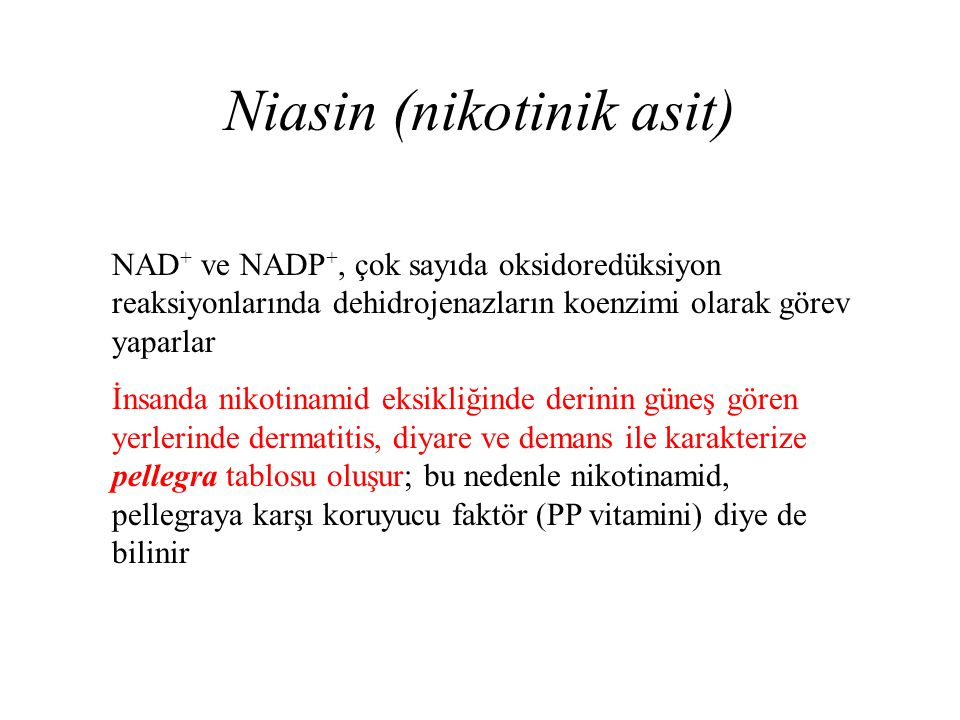 Niasin (nikotinik asit)