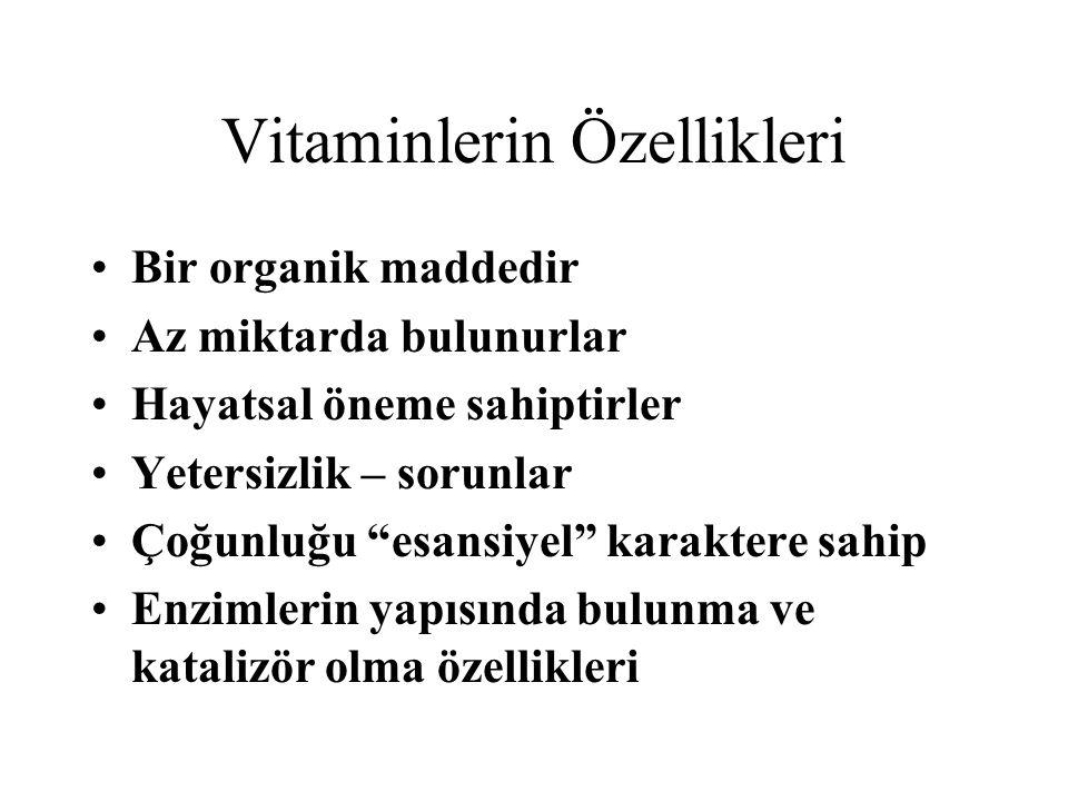 Vitaminlerin Özellikleri