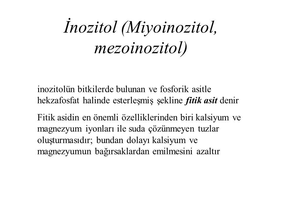 İnozitol (Miyoinozitol, mezoinozitol)