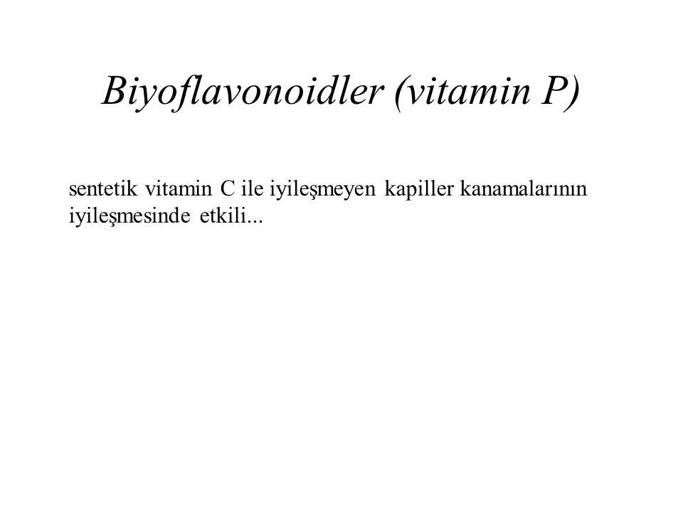 Biyoflavonoidler (vitamin P)
