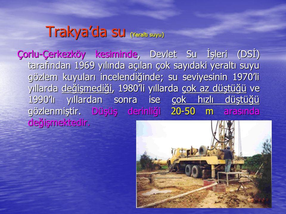 Trakya'da su (Yeraltı suyu)