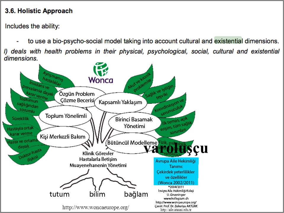 varoluşçu http://www.woncaeurope.org/ http://aile.atauni.edu.tr
