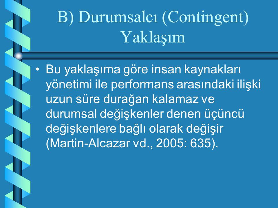 B) Durumsalcı (Contingent) Yaklaşım