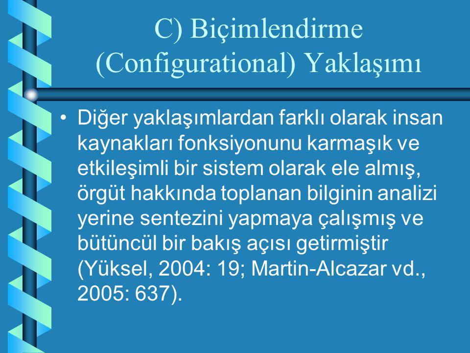 C) Biçimlendirme (Configurational) Yaklaşımı
