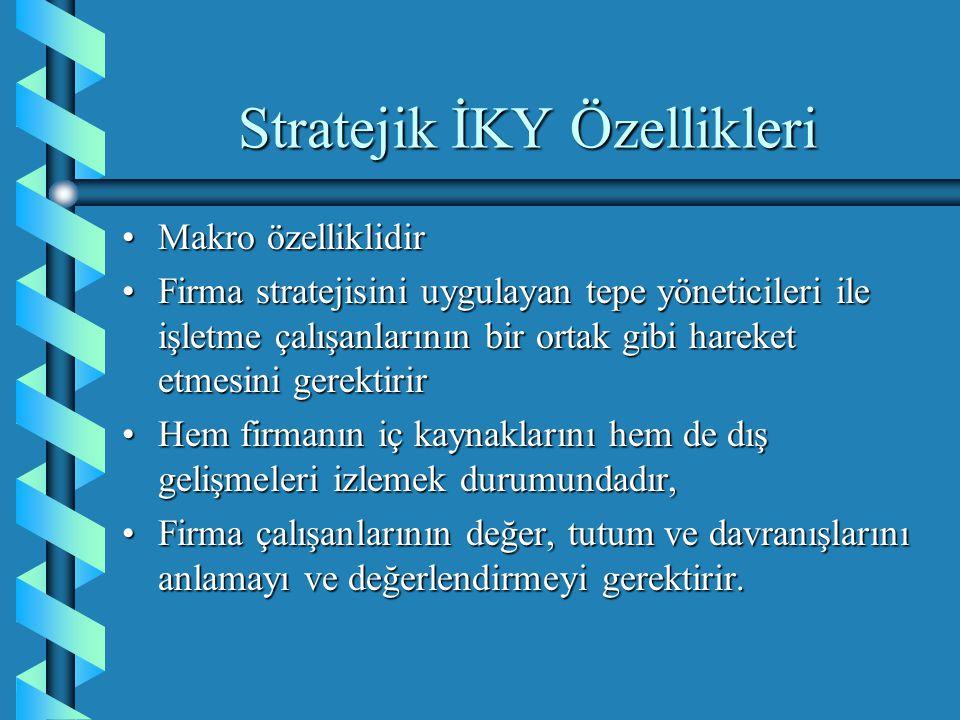 Stratejik İKY Özellikleri
