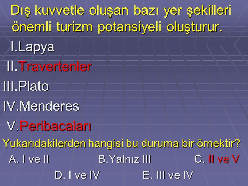 A. I ve II B.Yalnız III C. II ve V