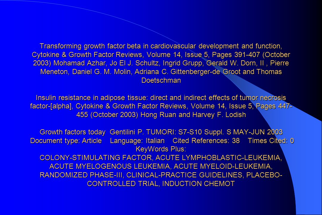 Transforming growth factor beta in cardiovascular development and function, Cytokine & Growth Factor Reviews, Volume 14, Issue 5, Pages 391-407 (October 2003) Mohamad Azhar, Jo El J.