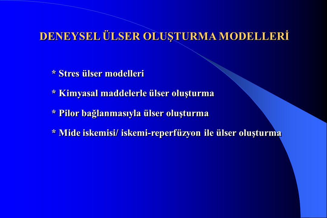 DENEYSEL ÜLSER OLUŞTURMA MODELLERİ