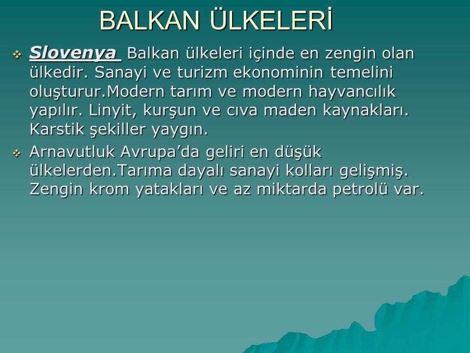 BALKAN ÜLKELERİ