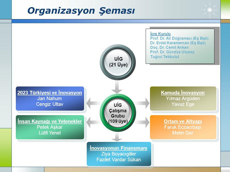 Organizasyon Şeması UİG (21 Üye)