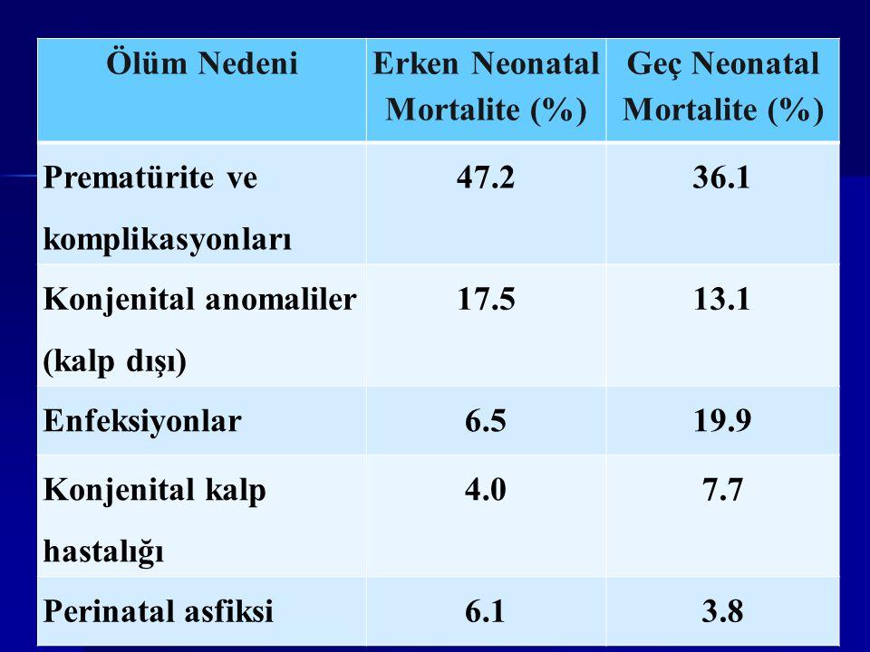Erken Neonatal Mortalite (%)