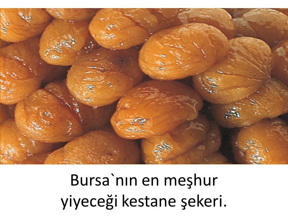 Bursa`nın en meşhur yiyeceği kestane şekeri.