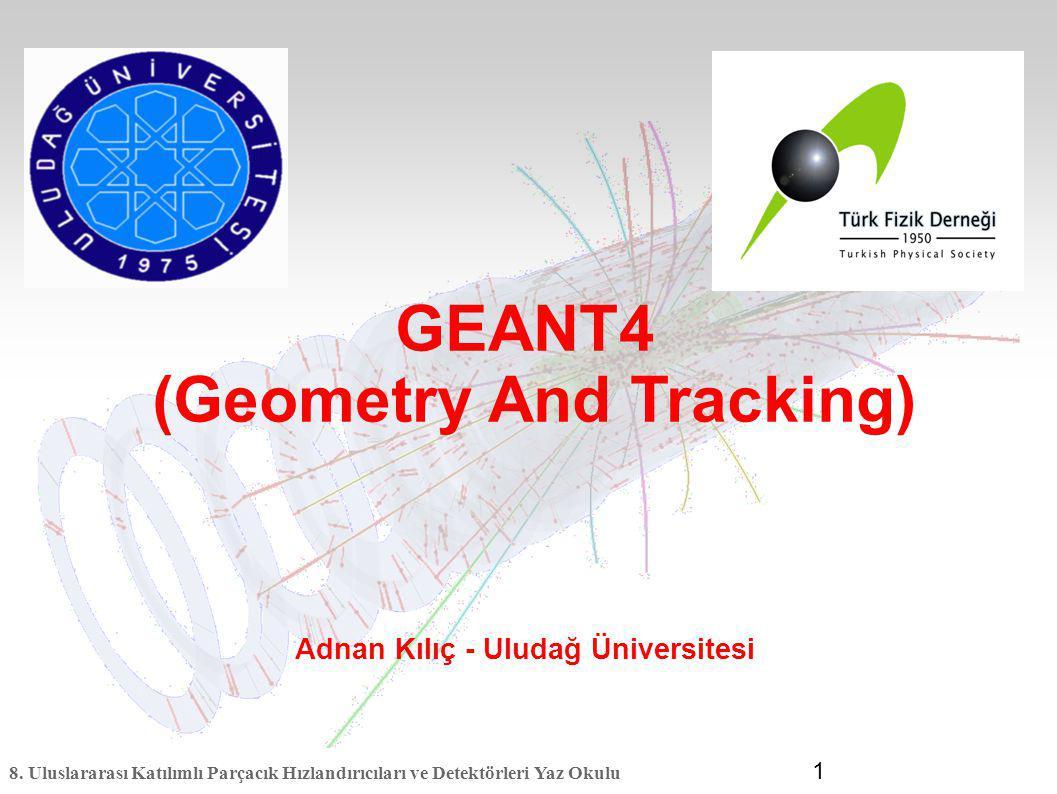 (Geometry And Tracking) Adnan Kılıç - Uludağ Üniversitesi