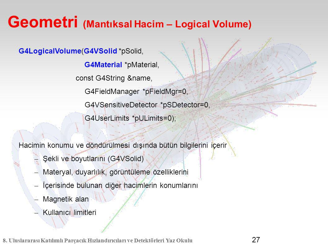 Geometri (Mantıksal Hacim – Logical Volume)