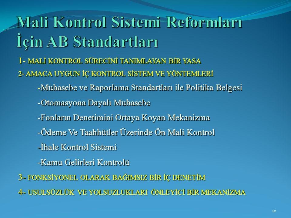 Mali Kontrol Sistemi Reformları İçin AB Standartları