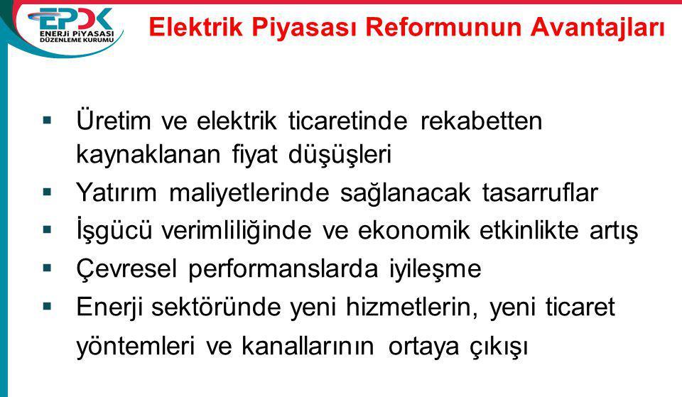 Elektrik Piyasası Reformunun Avantajları