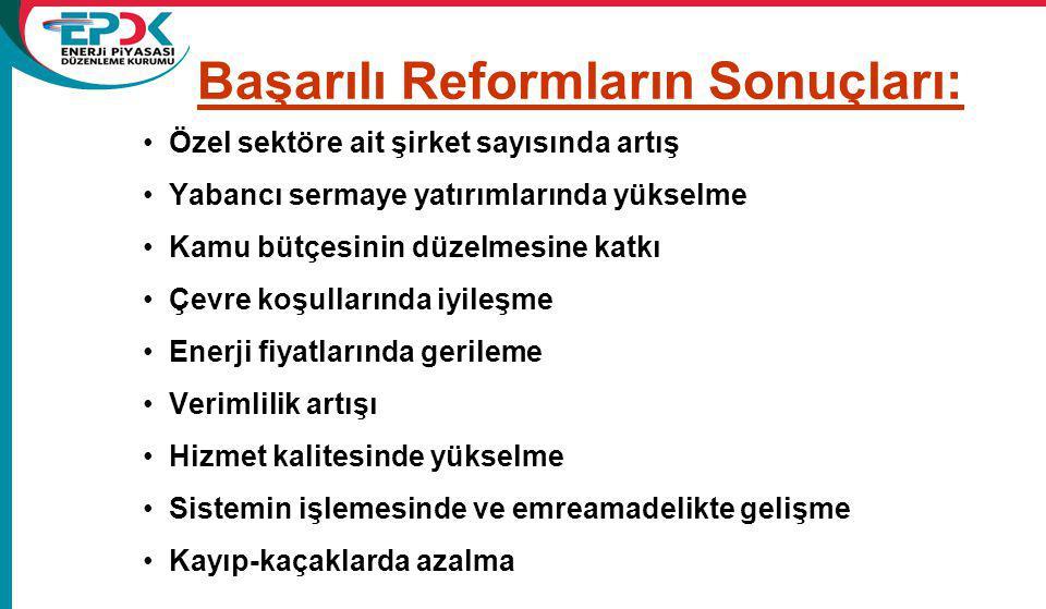 Başarılı Reformların Sonuçları: