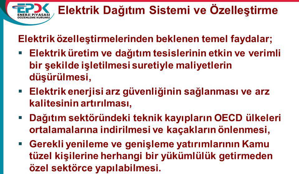 Elektrik Dağıtım Sistemi ve Özelleştirme