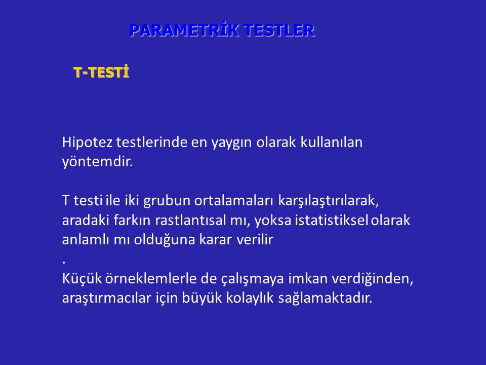 Hipotez testlerinde en yaygın olarak kullanılan yöntemdir.